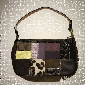 Coach patchwork baguette, gently used